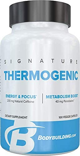 Bodybuilding.com Signature Thermogenic Fat Burner for Men Appetite Suppressant Metabolism Booster Weight Loss Fat Burner for Women Fat Burning Pills 100 Capsules