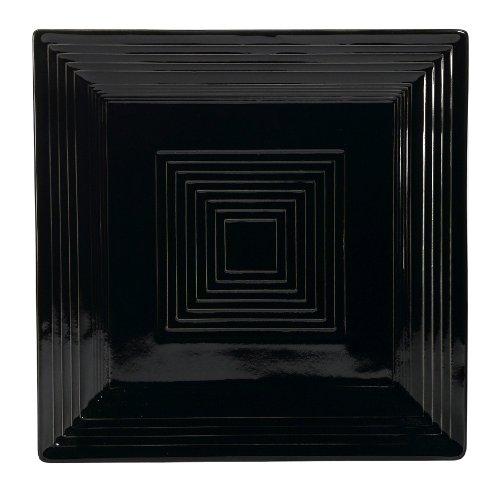 - CAC China TG-SQ16BLK Tango Black Porcelain Square Plate, 10-Inch, Box of 12