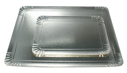 FaisTonGateau – Juego de 25 tray-tray Plata 19 x 28 cm