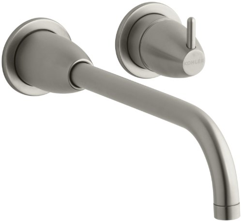 KOHLER K-T197-BN Falling Water Wall-Mount Lavatory Faucet Trim, Vibrant Brushed Nickel ()