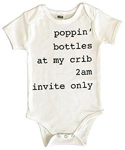 CHUBS Poppin Bottles at My Crib, Unisex Baby Gift, Baby Shower Gift, 0-6M Onesie, 6-12M Onesie