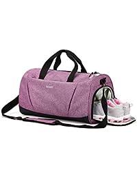 f8da472ba4 Sports Gym Bag with Shoes Compartment wet pocket for Women   men