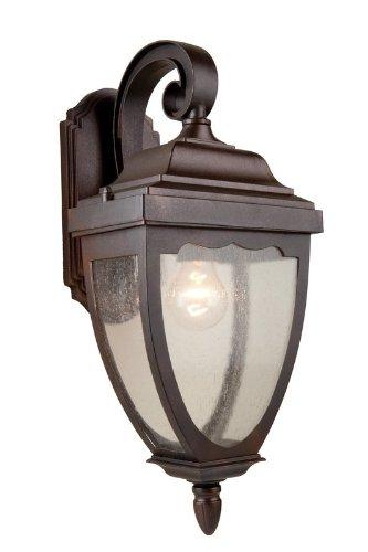 Artcraft Lighting Oakridge 1-Light Outdoor Wall Sconce, Black