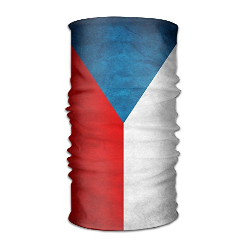 QGbird Unisex Czech Republic Grunge Flag Bandanas Helmet Liner Head Wrap Scarf One Size Great Gifts For Men Women