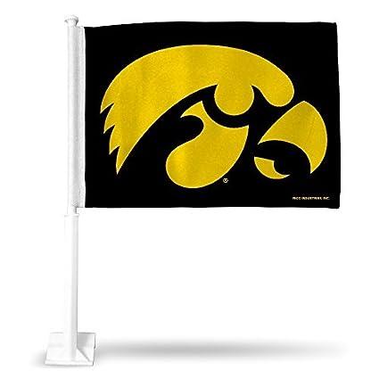 Amazon Com Rico Industries Ncaa Iowa Hawkeyes Car Flag Sports
