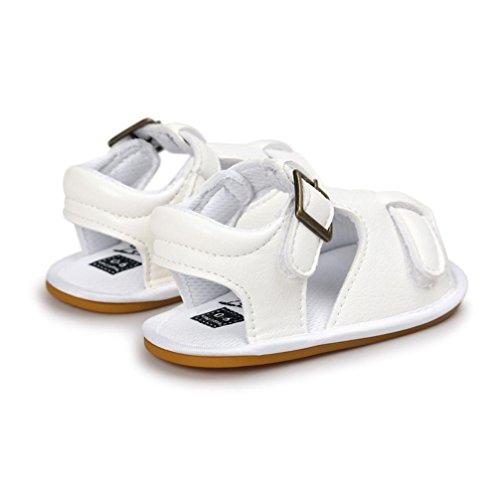 bescita Sommer Baby Jungen Sandalen Schuh Freizeitschuhe Sneaker Rutschfest Weiche Sohle Kleinkind (12, Weiß)