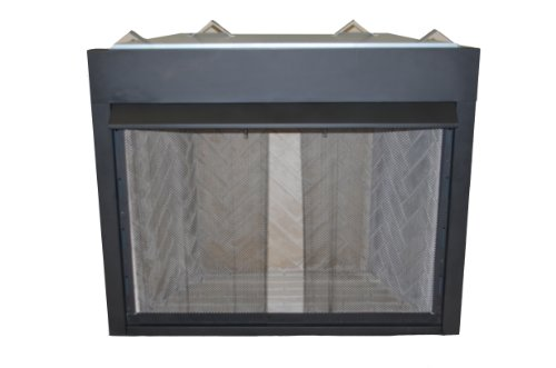 Sure Heat VFLB42 Surefire Series Steel Constructed Vent-Free Low Profile Firebox with Heat Deflecting Mantel Guard and Screen, 42-Inch, Black - Series Vent Free Fireplace