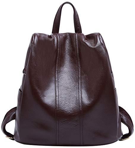 BOYATU Genuine Leather Backpack for Women Anti-theft Rucksack Ladies Travel - Hobo Sling Genuine Leather Backpack