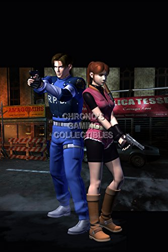 """Price comparison product image Resident Evil CGC Huge Poster Glossy Finish 2 Leon and Claire PS1 PS3 - REE047 (24"""" x 36"""" (61cm x 91.5cm))"""