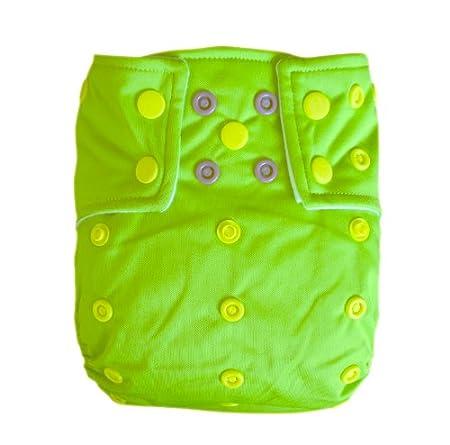 Alva Baby AI2couleur Chiffon réutilisable lavable en machine poche fermeture à boutons pression 2couches avec inserts Alvababy