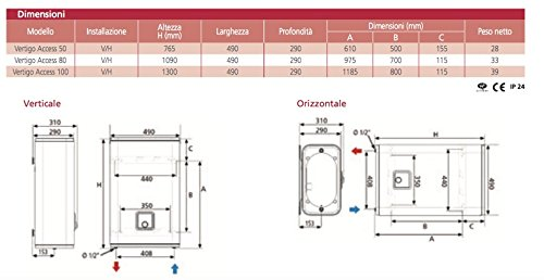 chauffe-eau chaudi/ère scaldino /électrique vertical horizontal 80/litres Atlantic Vertigo Access 100/ERP
