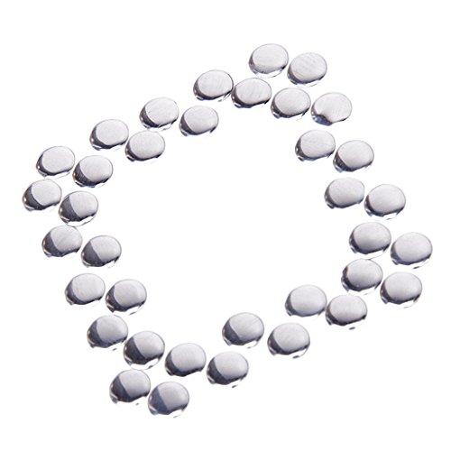 50pcs Round Hotfix Nailheads Silver 7mm