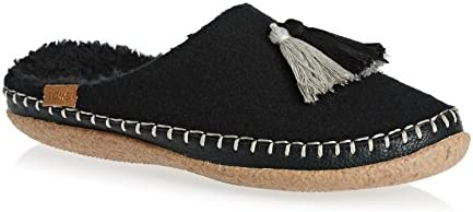 5f1f9017026 Toms Women's Ivy Women's Black Wool Slippers Tassels in Size 40 EU ...