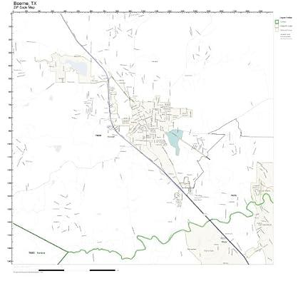 Amazon.com: ZIP Code Wall Map of Boerne, TX ZIP Code Map Laminated