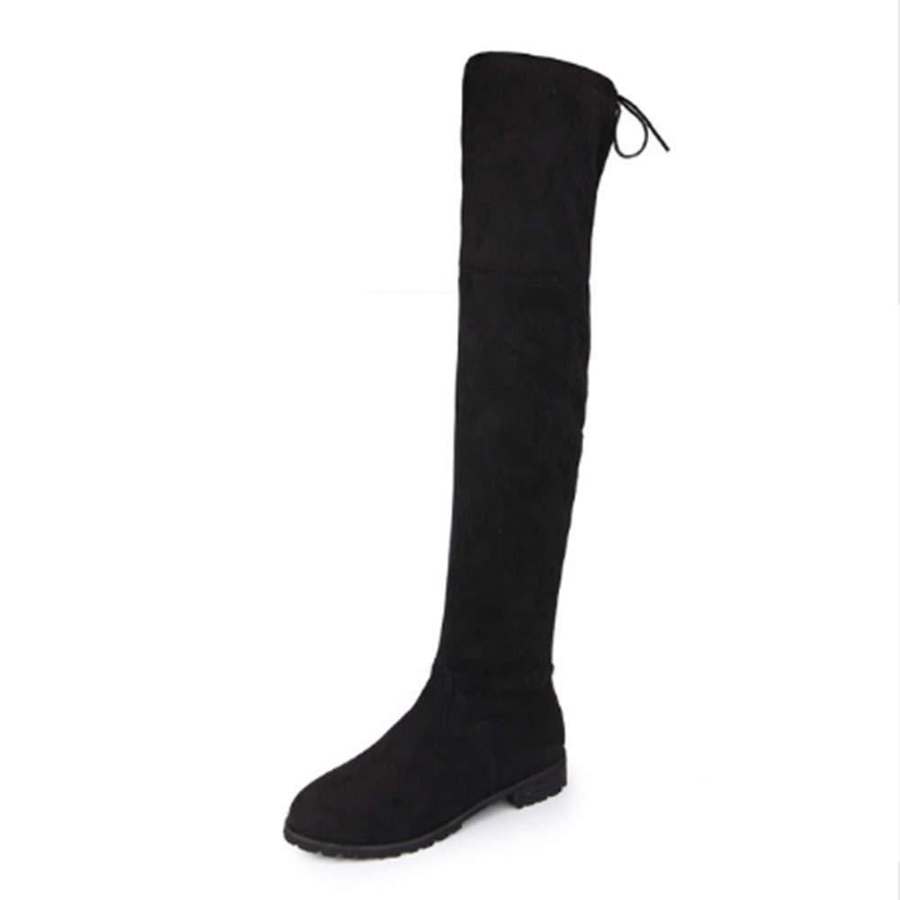 FMWLST Stiefel Schlanke Stiefel, Kniehohe, Damen Schneeschuhe, Damen Winter Oberschenkel Hohe Stiefel  | Neue Sorten werden eingeführt  | Kaufen Sie beruhigt und glücklich spielen