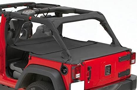 Pavement Ends by Bestop 41428-35 Black Diamond Cargo Cover Extension for 2007-2018 Wrangler JK Unlimited