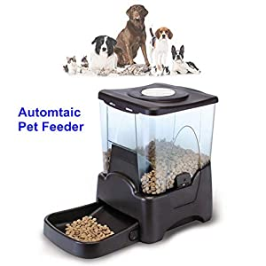 ZISITA-Automatic-Cat-Dog-Feeder1065L-Auto-Pet-Food-Dispenser-with-Features-Portion-ControlTime-ProgrammableLCD-Display-Voice-Recording-Black