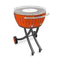 Lotusgrill Lotusgrill Edelstahl Stahl Kunststoff klein orange BBQ-Lotus Balkon Camping Picknick ✔ rund ✔ tragbar rauchfrei ✔ Grillen mit Holzkohle ✔ für den Tisch