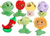 Plants VS Zombies Plush Toys with Sucker on The Bottom Doll Set 7pcs/lot 15cm