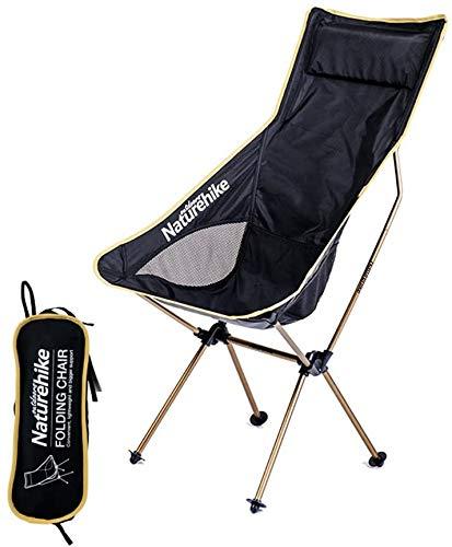 Naturehike Lichtgewicht Opvouwbare Campingstoel met Rugkussen, Outdoor Draagbaar Vissersstoel met Transporttas voor…