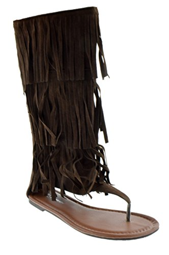 Perizoma Anika 66 Sandalo Gladiatore Piatto Perizoma Donna Marrone