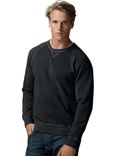 Crew Lightweight Sweatshirt (Hanes MenG€s Nano Premium Lightweight Crewneck Sweatshirt N260, L, Black)