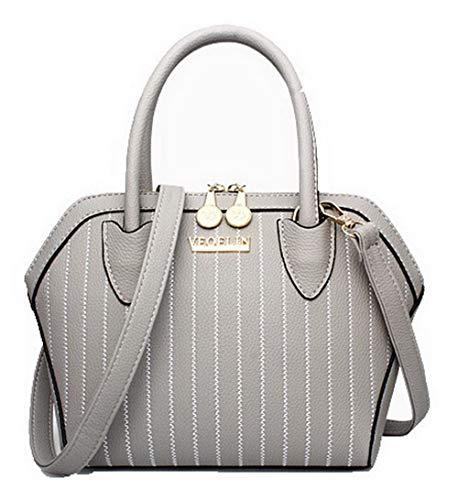 AllhqFashion Donna Dacron Tote-Style Vestito Moda Borse a tracolla, FBUIBC181821, Nero Grigio