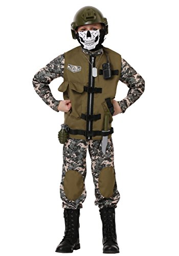Kids Camo Trooper Costume Tactical Vest Camouflage Army Costume Child Large