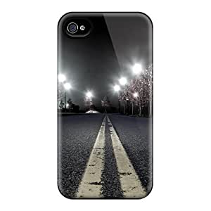 New Diy Design Night Roadway For Iphone 4/4s Cases Comfortable For Lovers And Friends For Christmas Gifts