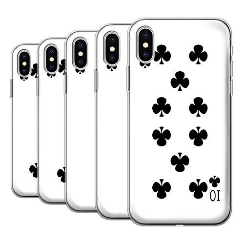 Stuff4 Gel TPU Hülle / Case für Apple iPhone X/10 / Pack 53pcs / Kartenspielen Kollektion