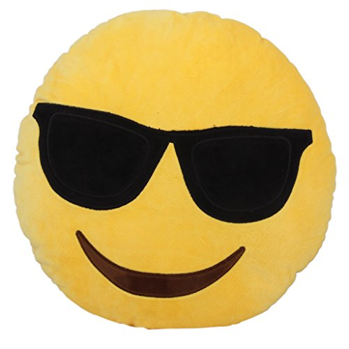 Cuscini Emoticon.Cuscino Rotondo Emoji Emoticon Morbido Cuscino Farcito Peluche