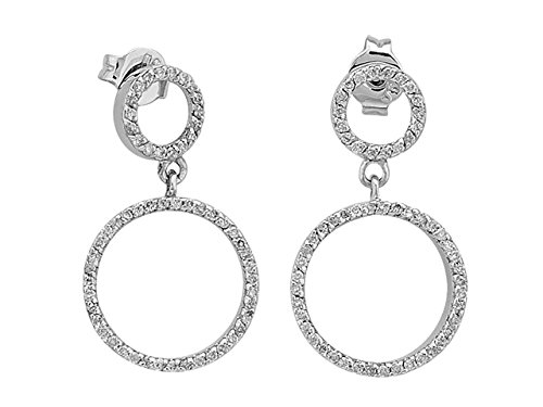 Boucles d'Oreilles Diamants 0,47 Carat-Femme- or Blanc 205E0013