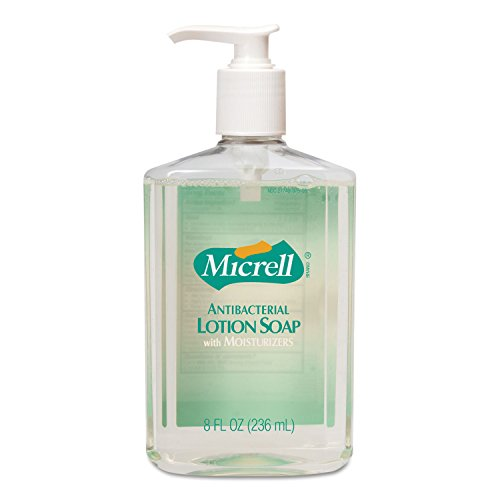 Micrell Antibacterial Lotion Soap, Unscented Liquid, 8Oz Pump (Antibacterial Lotion Soap)