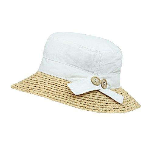 White Foldable Straw Cloche Sun Hat 12a74e0047fc