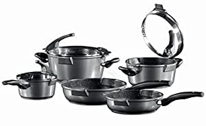 Germany's Stoneline Xtreme Series 8 Pcs Non-stick Non-Toxic Stone Coating Cookware Set - 2017 Top of the line model, better taste food