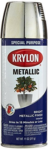 (Krylon K1404 Metallic Spray Paint, Chrome Aluminum)