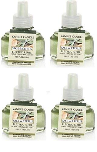 (Yankee Candle Sage and Citrus ScentPlug Refill 4-Pack)