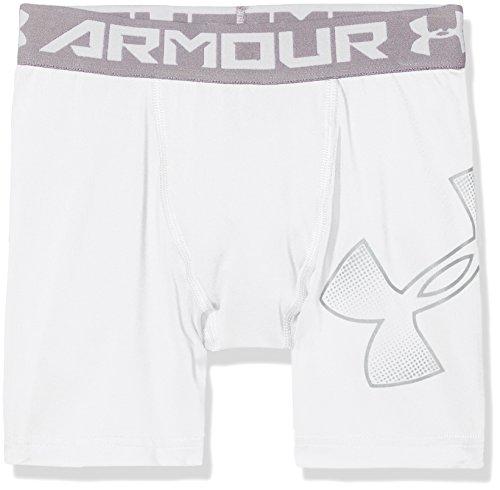 Under Armour Boys Heatgear Armour Mid Shorts, White