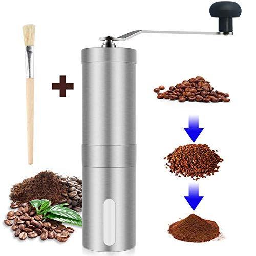 Buy Bargain Coffee Grinder, Smaier Manual Coffee Mill, Mini Portable Home Kitchen Travel Hand Stainl...