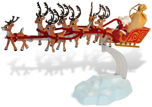 Rudolph The Red Nosed Reindeer Set (Rudolph the Red-nosed Reindeer Action Figures Box Set: Musical Santa's Sleigh)