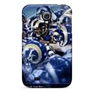Galaxy S4 Hard Back With Bumper Silicone Gel Tpu Case Cover St. Louis Rams