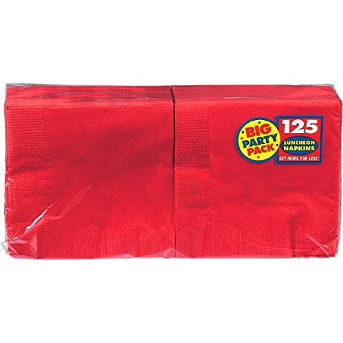 Amscan Big Party Pack Luncheon Napkins 13″X13″ 125/Pkg-Apple Red