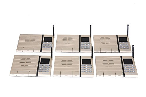 Samcom 20-Channel Digital FM Wireless Intercom System for Home and Office Gold (Pack of 6) by samcom