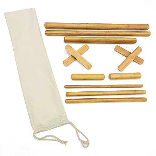 Hugerox bamboo Massage Kits Treatment Save Hands a lot of wear and Tear Perfect to Work The Traps Set of 12 Pieces