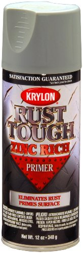 (Krylon K09240007 Rust Tough Enamel Spray Paint Primer Zinc, 12-Ounce Aerosol)