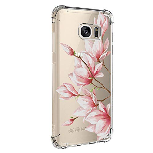 Case Compatible with Galaxy S7/S7 Edge Case Vanki Shockproof Thin Clear Soft TPU Protective Cover (S7, Color6)