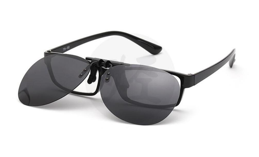 ZHLONG Clip sur lunettes de soleil hommes et femmes lumineuses de polarisation , 9
