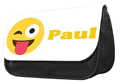 Hiros® Estuche personalizado Smiley Emoji para lápices ...