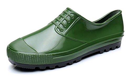 Ein bißchen Wasserdicht Herren Rutschfest Hochwertig Gummistiefel Grün