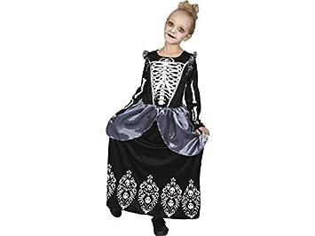 DISONIL Disfraz Niña Reina Esqueleto Talla M: Amazon.es ...